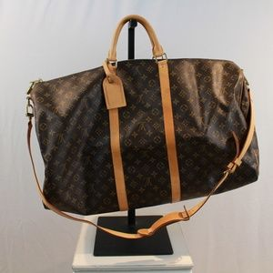 Louis Vuitton Bandouliere Monogram Keepall 60